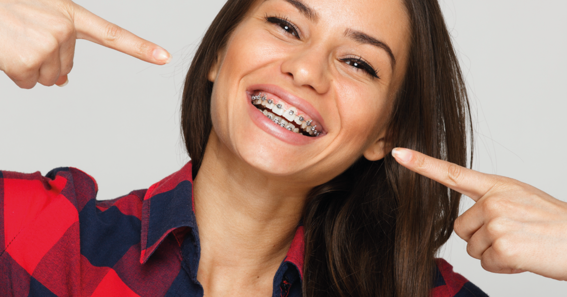 Girl with Braces -